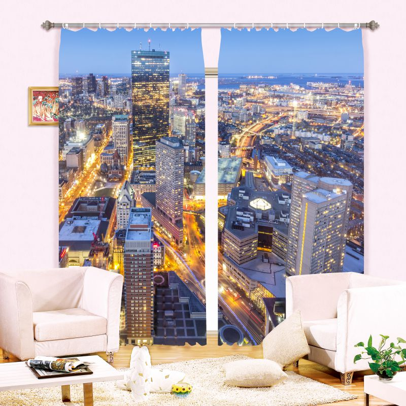 Magnificent City Picture Curtain Set