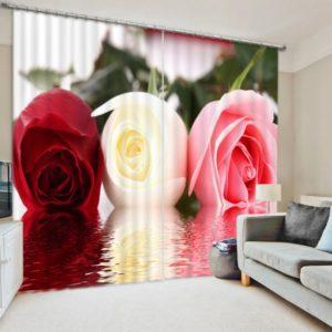 Lovely Rose Themed Curtain set