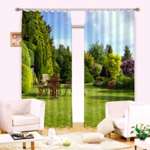 Soothing Nature Themed Curtain set