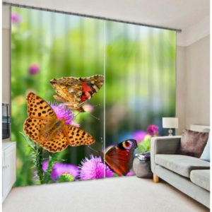 Amazing Butterfly Picture Curtain Set