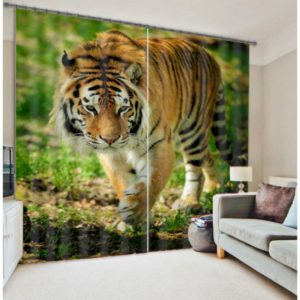 Imperial Tiger picture Curtain Set