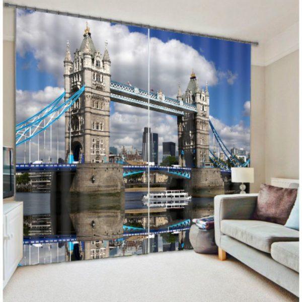 Exquisite Bridge Picture Curtain Set