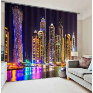 In-vogue City Picture Curtain Set