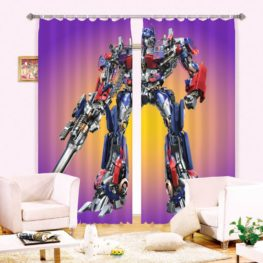 Contemporary Transformers Picture Curtain Set