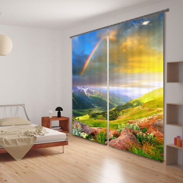 Curtain Set With Soothing Nature Theme