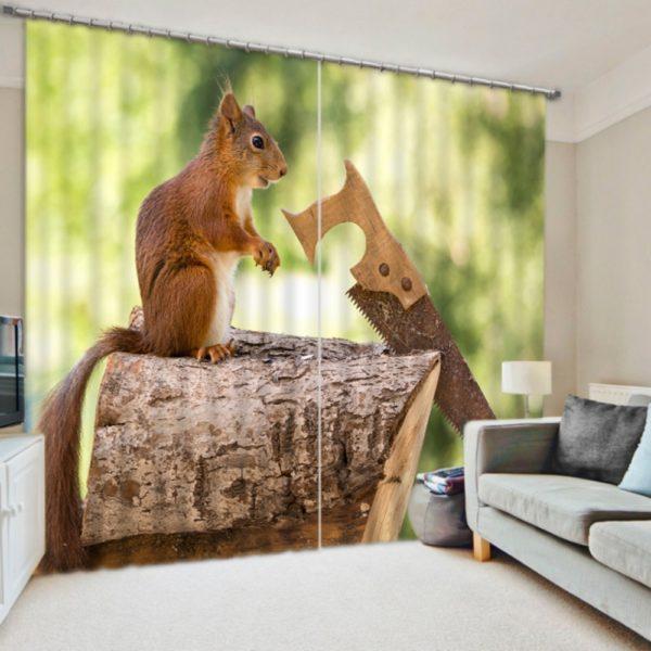 Fantastic Squirrel Curtain set