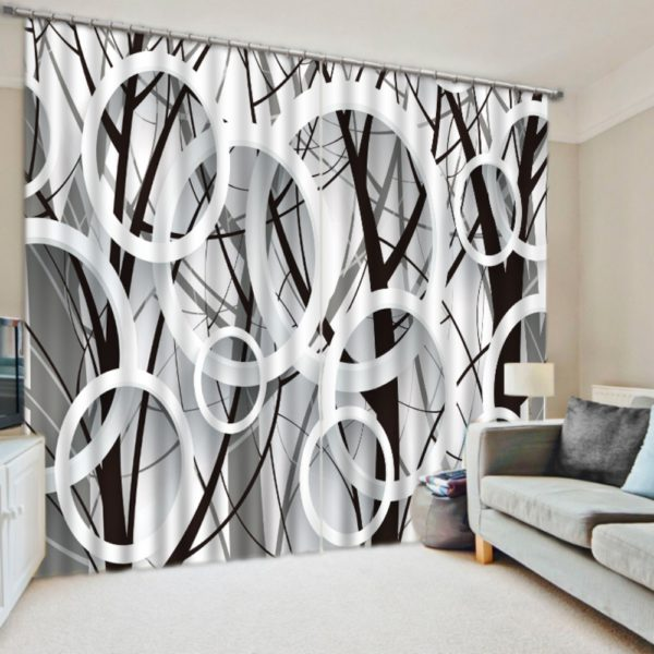 Fantastic 3D Circle Curtain set