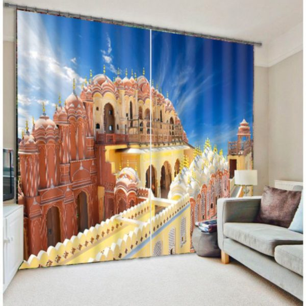fantastic Palace Picture Curtain Set