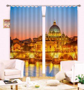 Royal Gold Palace Curtain Set