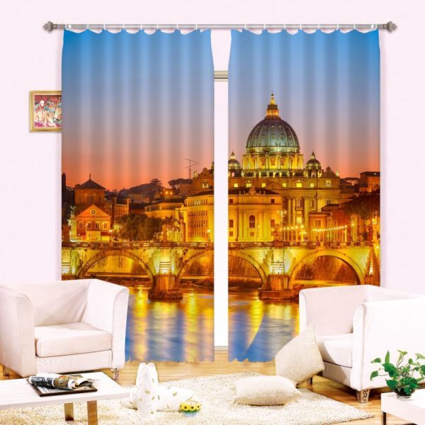 Royal Gold Palace Curtain Set