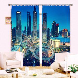 Fab Modern City themed Curtain Set