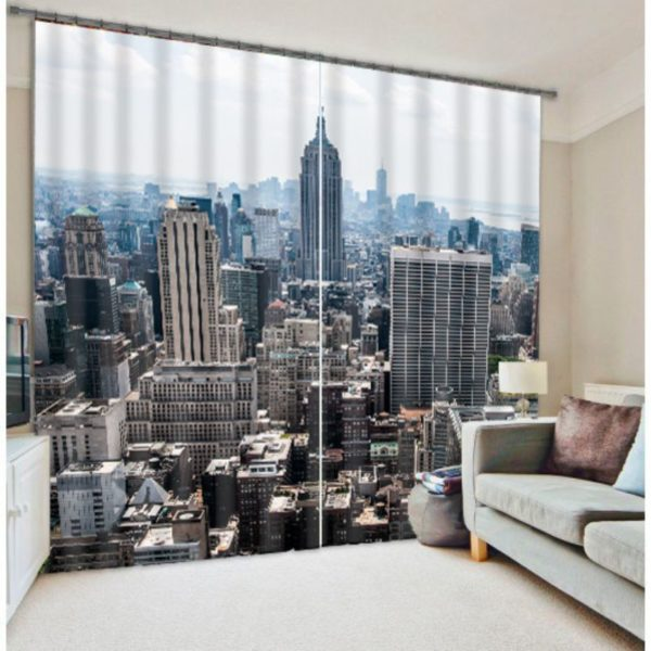Modern City Themed Curtain Set