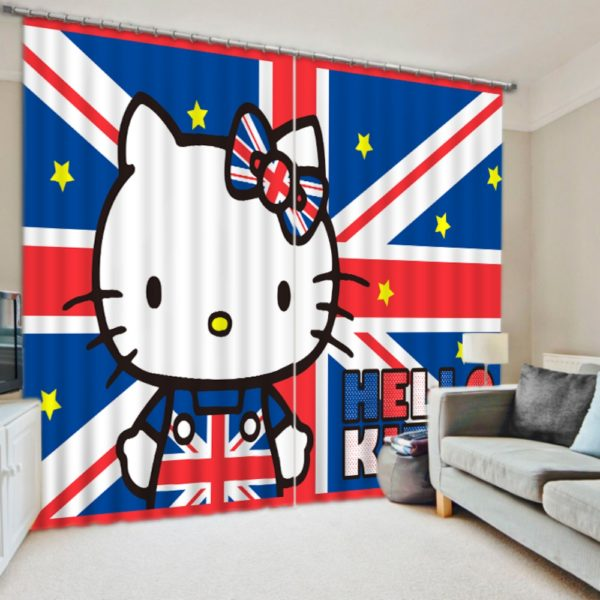 Beautiful Curtain set With Hello Kitty Theme