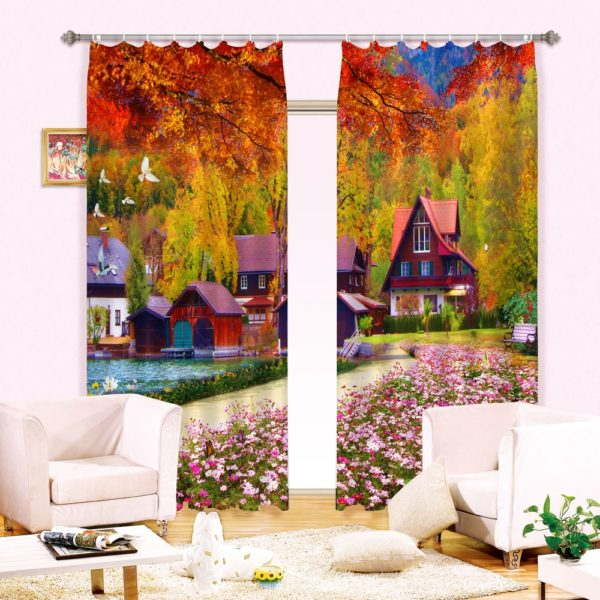 15amazon zpst8qfft2s 600x600 - Beautiful Curtain set With Nature Theme
