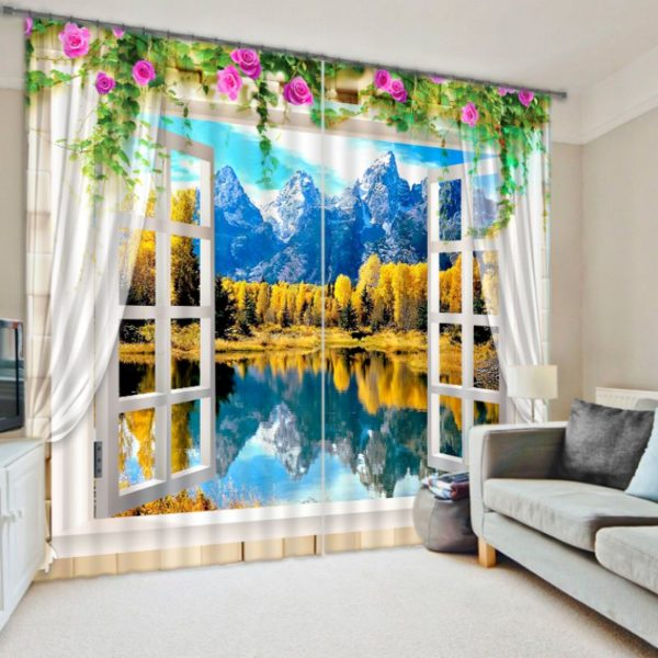 Beautiful Curtain set With Nature Theme