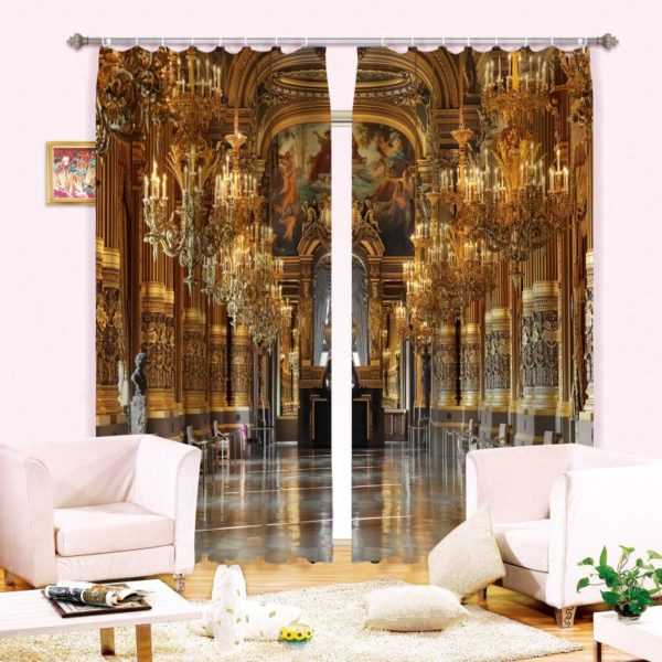 Vintage Church  Curtain Set