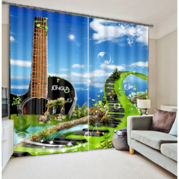 Beautiful Modern Music Curtain Set