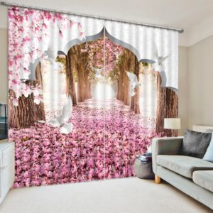 Latest Flower Curtain Set In Delicate Colors