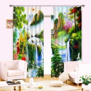 Beautiful Picture Curtain Set