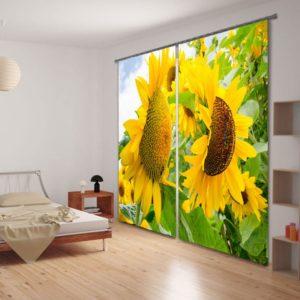 Attractive Sunflower Curtain Set