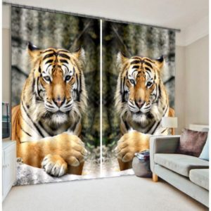 Striking Tiger Picture Curtain Set
