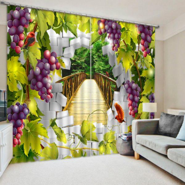 Grape Picture Curtain Set