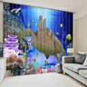 Attractive Blue Marine Themed Curtain Set