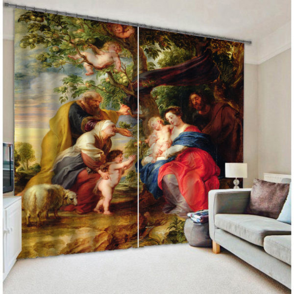 Attractive Vintage Themed Curtain Set