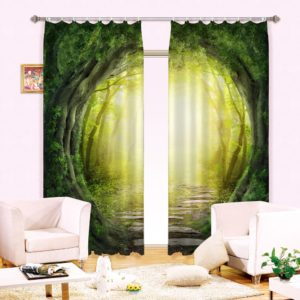 Attractive Nature Themed Curtain Set