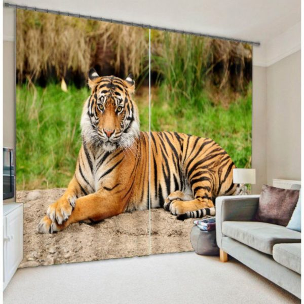 Royal Tiger animal Curtain Set