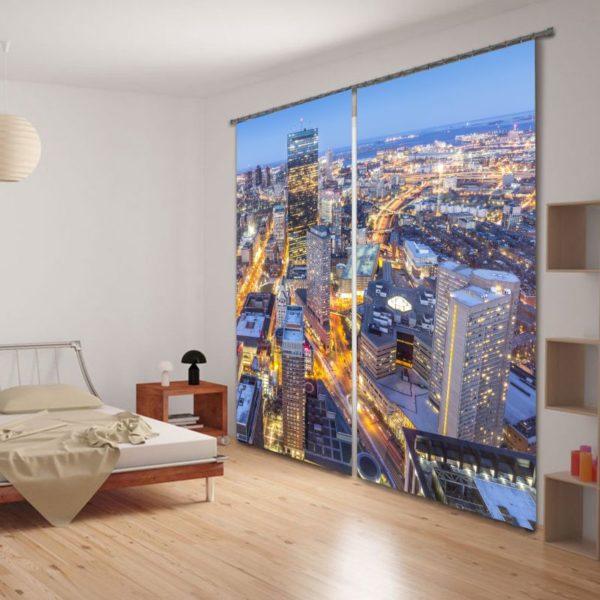 City Themed Curtain Set