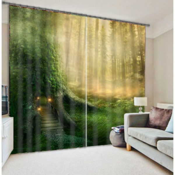 Magical Green Curtain Set