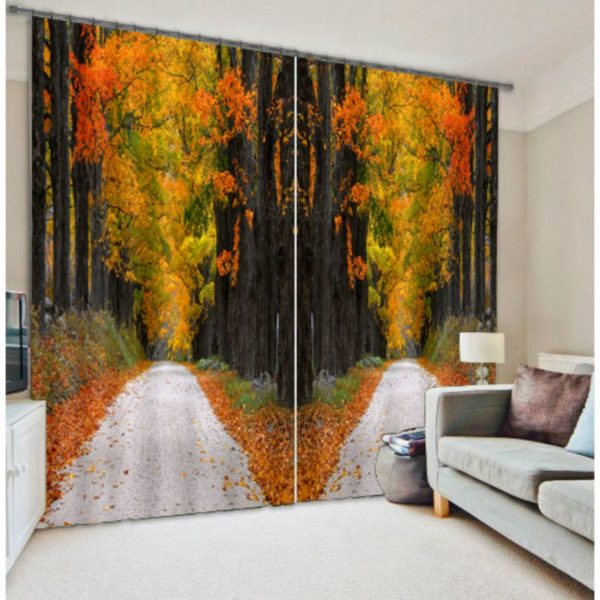 Soothing Autumn Curtain Set