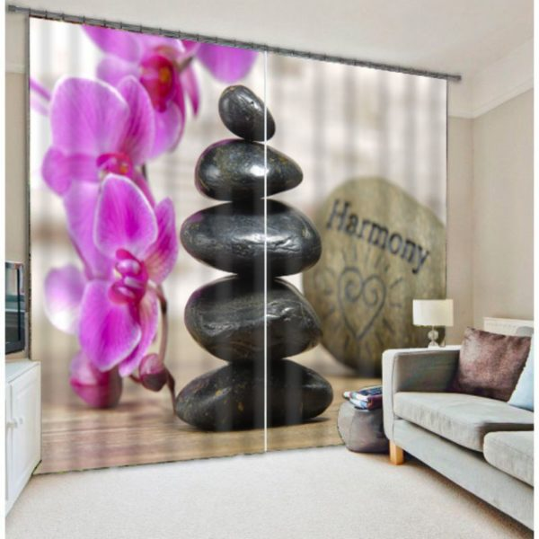 Amazing Pink And Black Curtain Set
