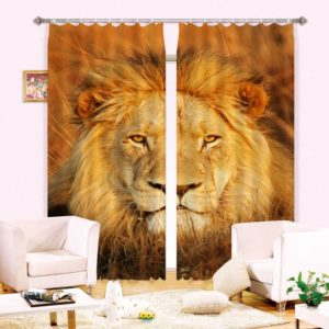 Royal Lion Animal Picture Curtain Set