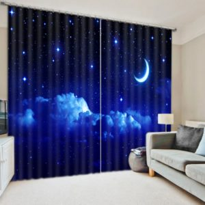 Amazing Moon And Stars Curtain Set
