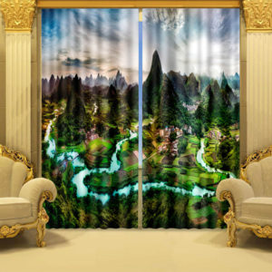 Angelic Swan Curtain Set