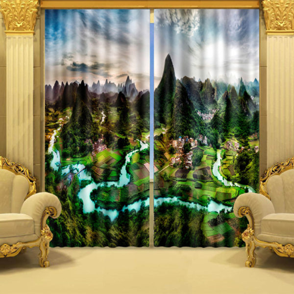 18 zpssctunxia 600x600 - Angelic Swan Curtain Set