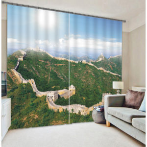 Great Wall Of China Curtain Set
