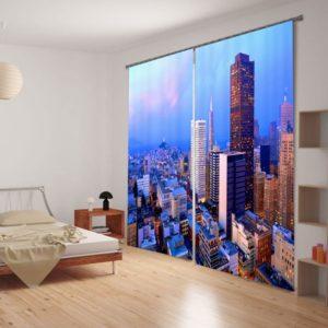 Futuristic Theme Curtain Set