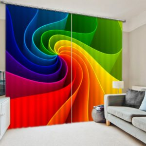 Colorful Rainbow Themed Curtain set