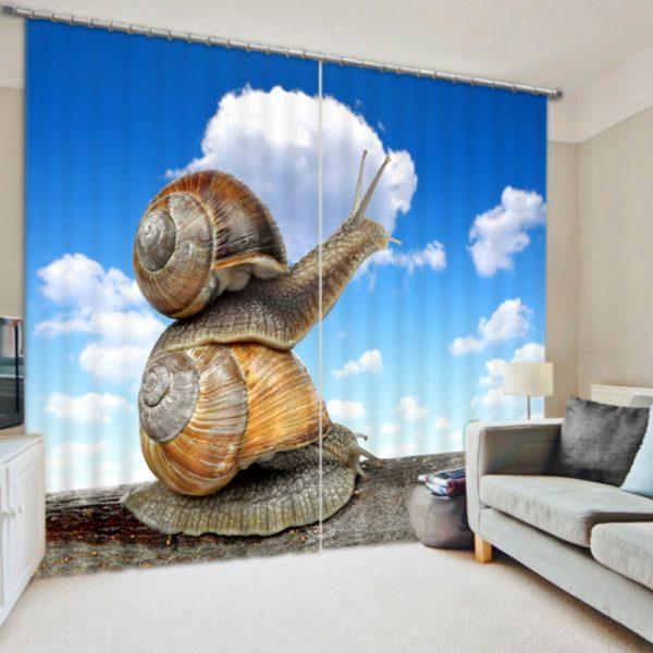 Graceful Snail Curtain set