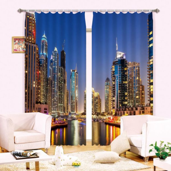 High-rise Buildings Curtain Set