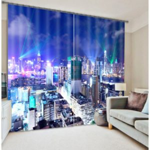 City Theme Curtain Set In Vibrant colors