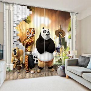 Elegant Kung-Fu Panda Curtain Set