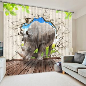 Beautiful Wildlife 3D Picture Curtain Set
