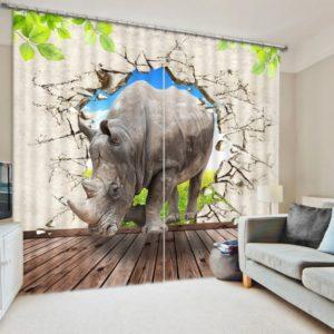 Beautiful Wildlife 3D Picture Curtain Set