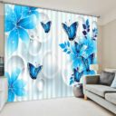 Amazing 3D Butterfly Curtain Set