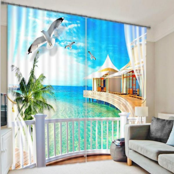 Luxurious Beach Curtain Set