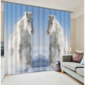 Elegant Horse Wildlife Curtain Set